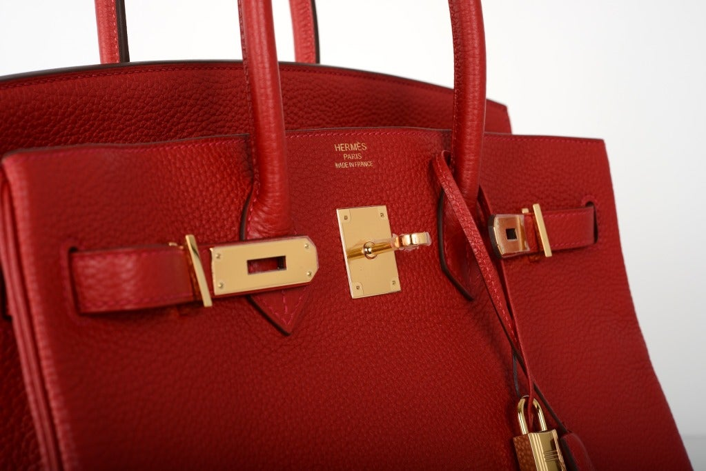 New Wow Color! Hermes Birkin Bag 35Cm Rouge Casaque Fab Ghw at 1stdibs
