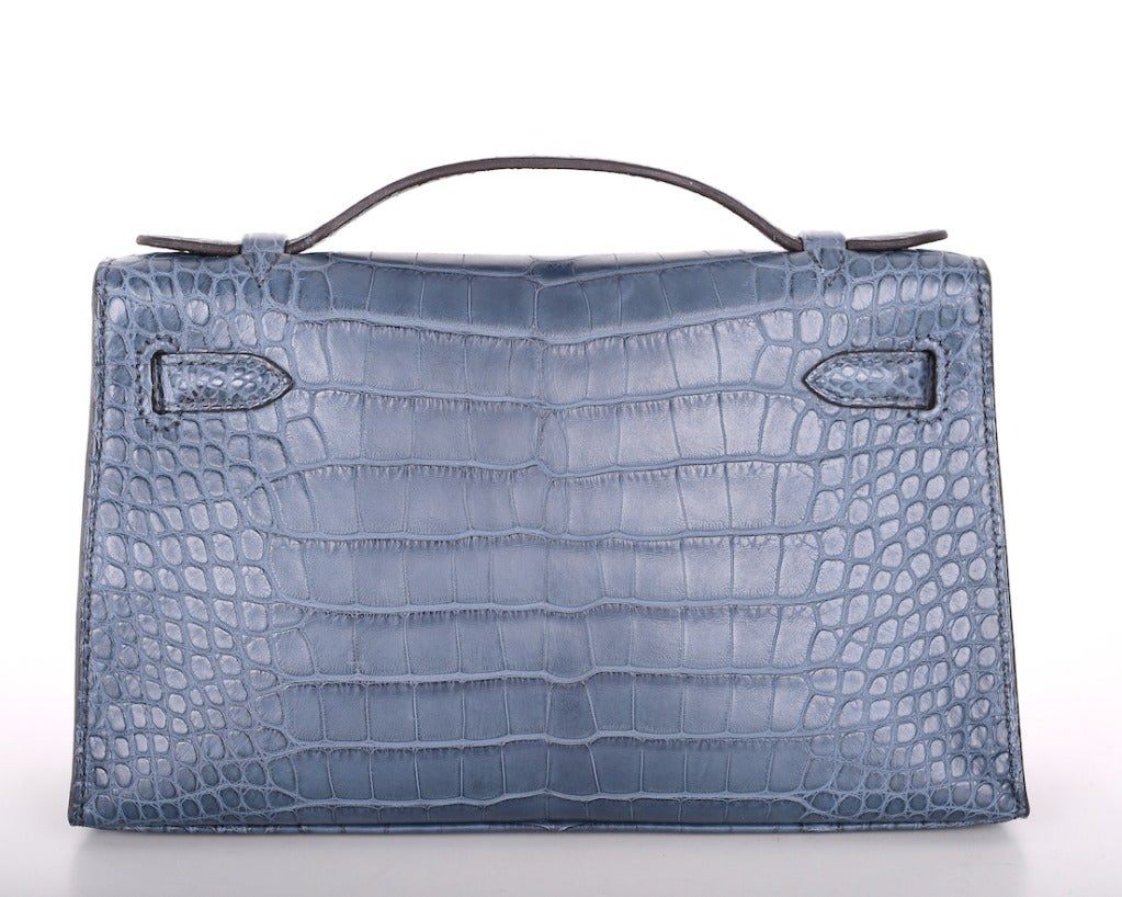 Hermes Very Special Alligator Kelly Pochette image 4