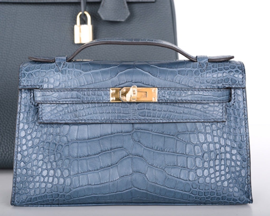 Hermes Very Special Alligator Kelly Pochette image 9