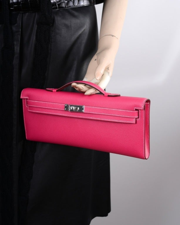 hermes crocodile birkin bag - hermes kelly rouge h bag kelly cut clutch pochette gold hardware ...