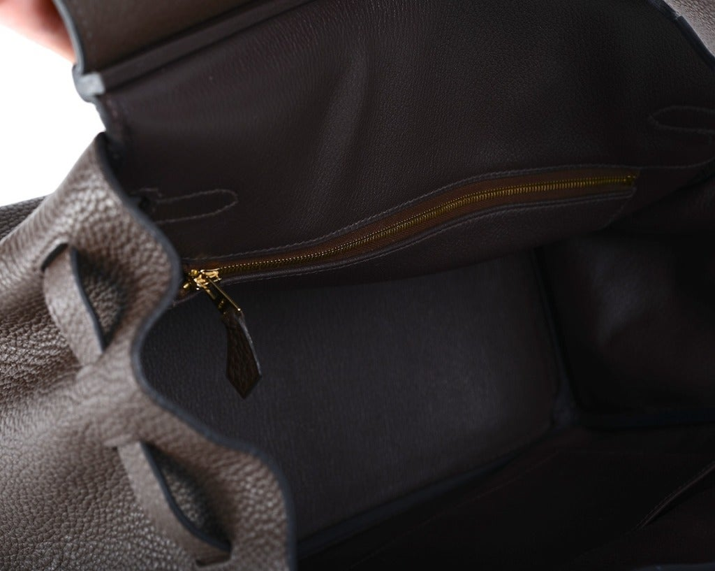 Love This Forever Hermes Birkin Bag Chocolate 35cm W Gold Hardware image 10