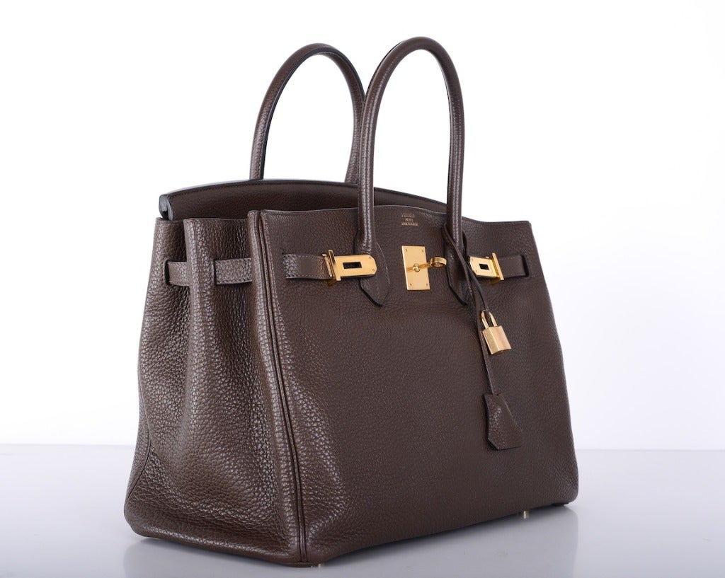 Love This Forever Hermes Birkin Bag Chocolate 35cm W Gold Hardware image 2