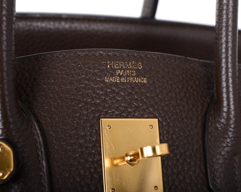 Love This Forever Hermes Birkin Bag Chocolate 35cm W Gold Hardware image 6