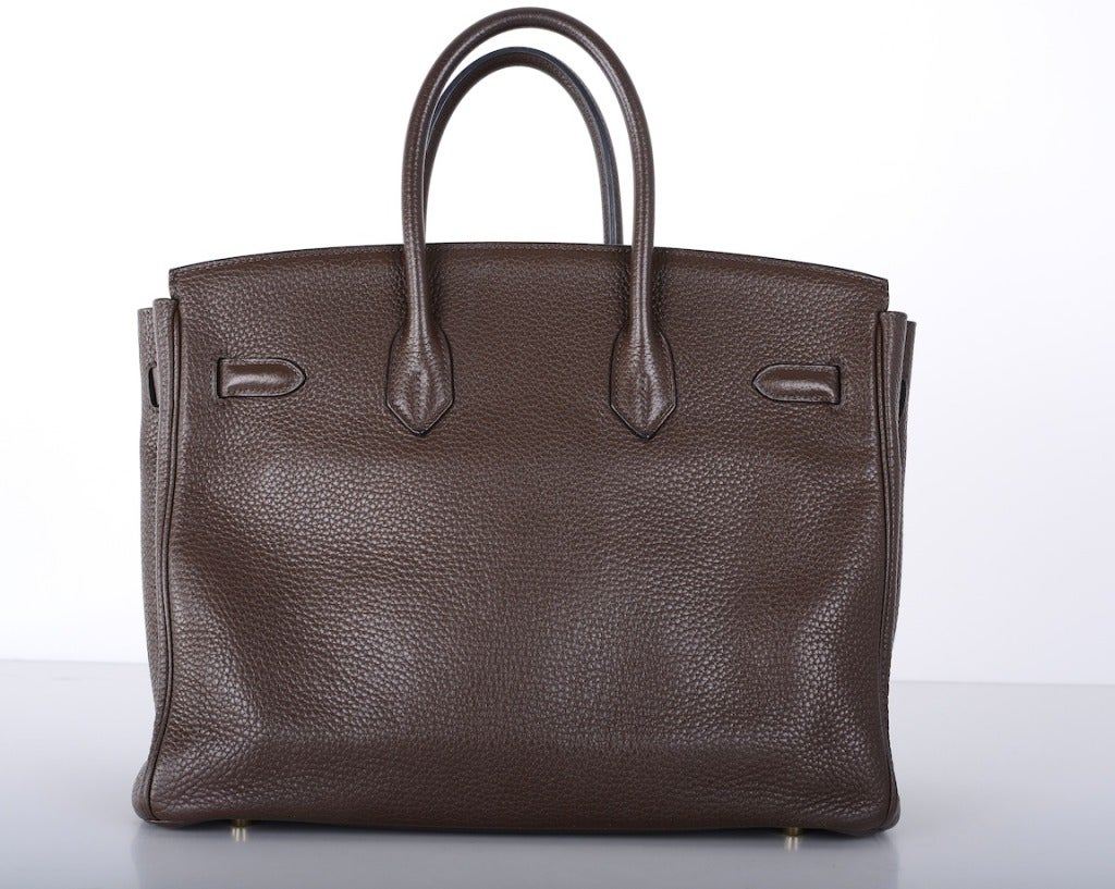 Love This Forever Hermes Birkin Bag Chocolate 35cm W Gold Hardware image 8