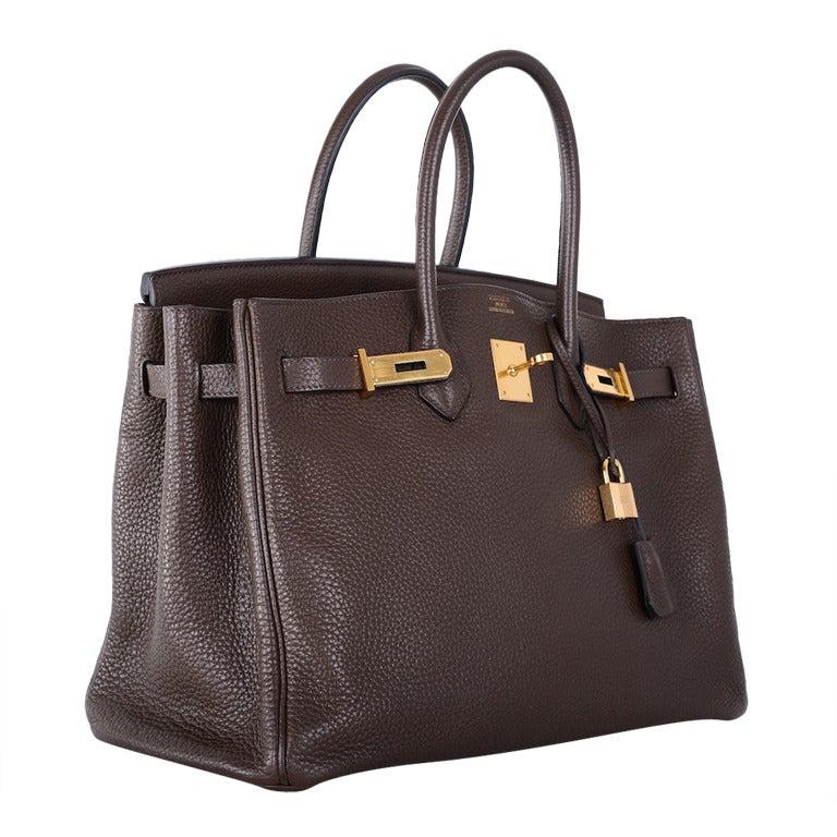 Love This Forever Hermes Birkin Bag Chocolate 35cm W Gold Hardware