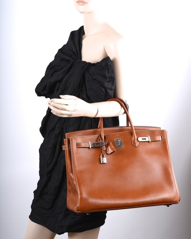 """Urban Legend"" Hermes Birkin Bag 40cm Natural Barenia PHW The Best! image 10"
