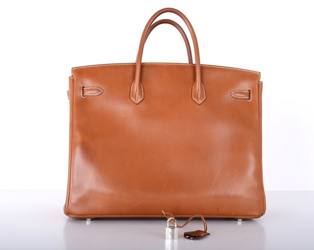 """Urban Legend"" Hermes Birkin Bag 40cm Natural Barenia PHW The Best! image 2"