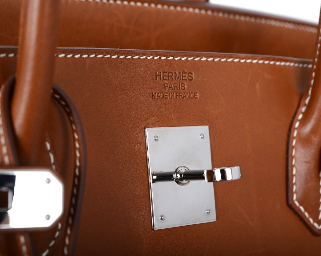 """Urban Legend"" Hermes Birkin Bag 40cm Natural Barenia PHW The Best! image 5"