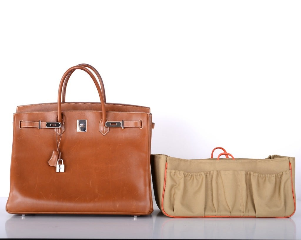 """Urban Legend"" Hermes Birkin Bag 40cm Natural Barenia PHW The Best! image 7"