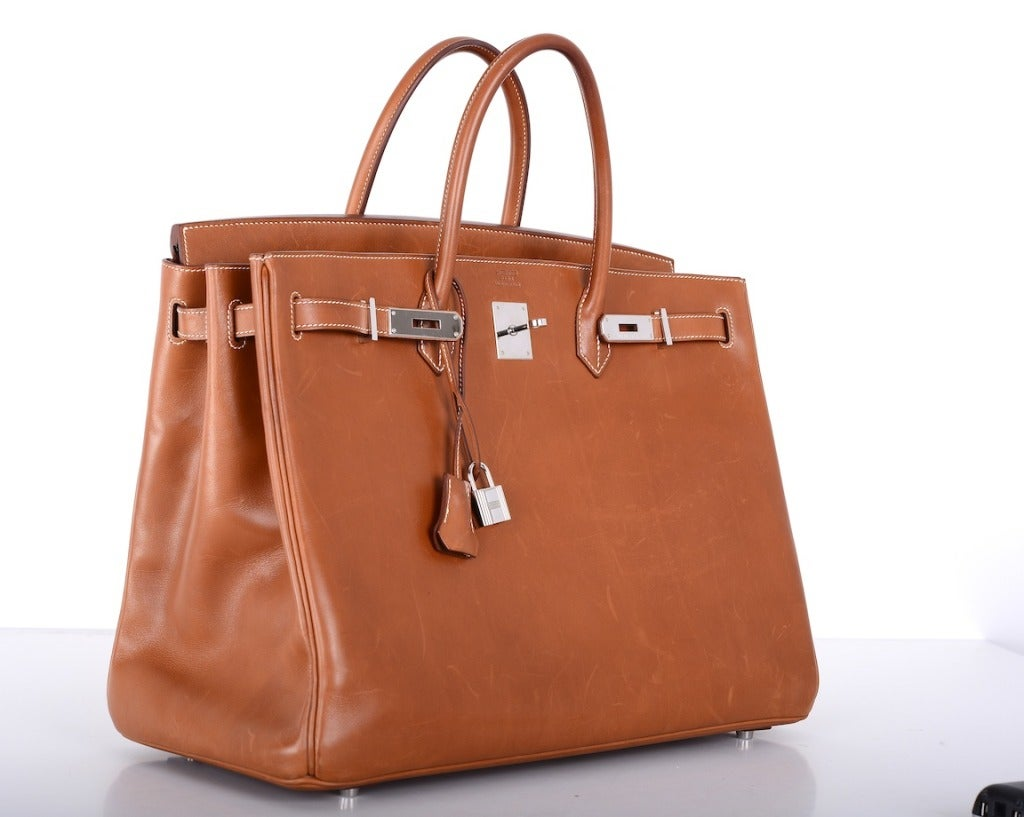 """Urban Legend"" Hermes Birkin Bag 40cm Natural Barenia PHW The Best! image 9"