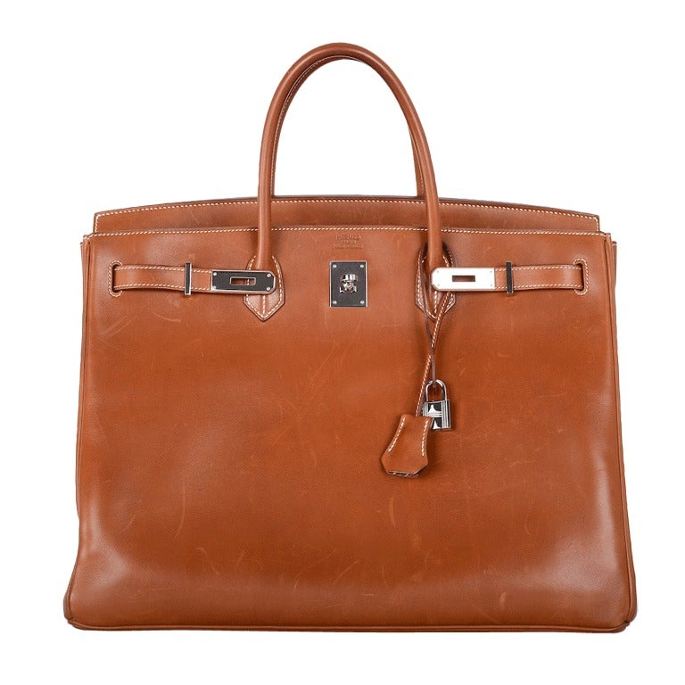 """Urban Legend"" Hermes Birkin Bag 40cm Natural Barenia PHW The Best!"