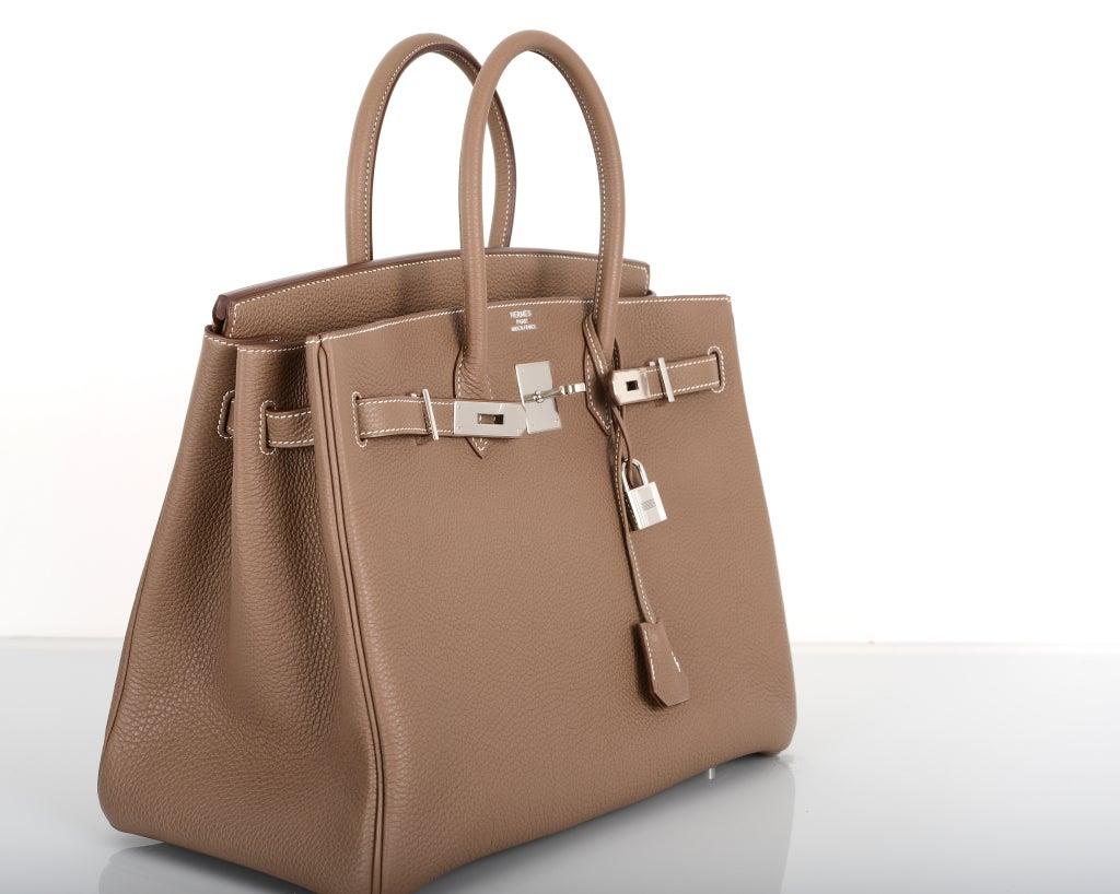 hermes kelly handbags - Hermes Birkin Bag Etoupe 35CM Togo Palladium JaneFinds For Sale at ...