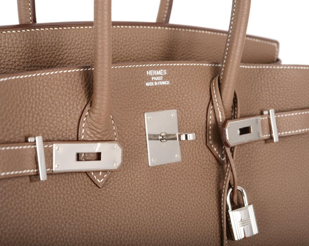 Hermes Birkin Bag Etoupe 35CM Togo Palladium JaneFinds For Sale at ...