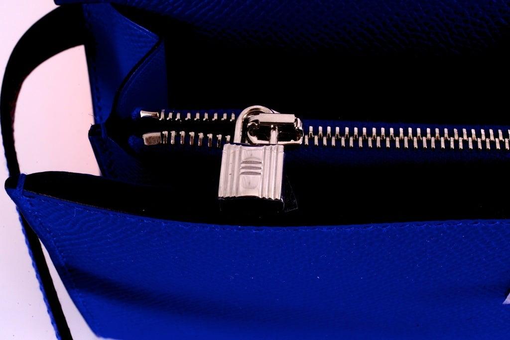 NEW HERMES KELLY LONG WALLET / CLUTCH BLUE ELECTRIC EPSOM LEATHE image 5