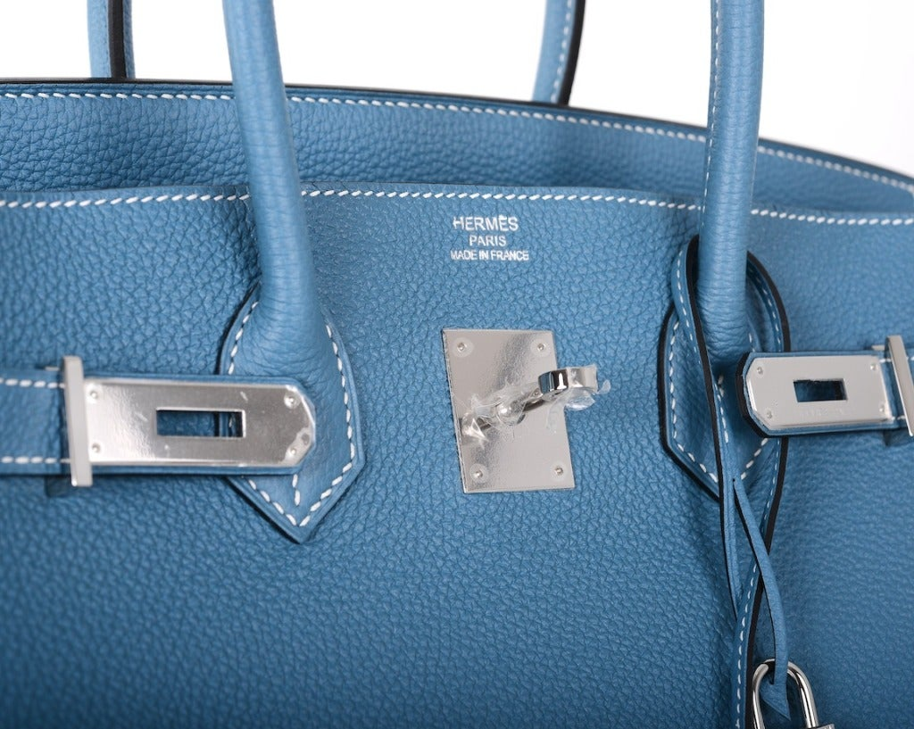hermes birkin blue jean bag