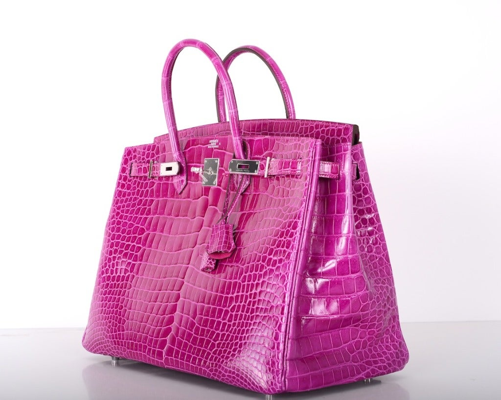 Pink Crocodile Birkin Bag The Kelly Purse