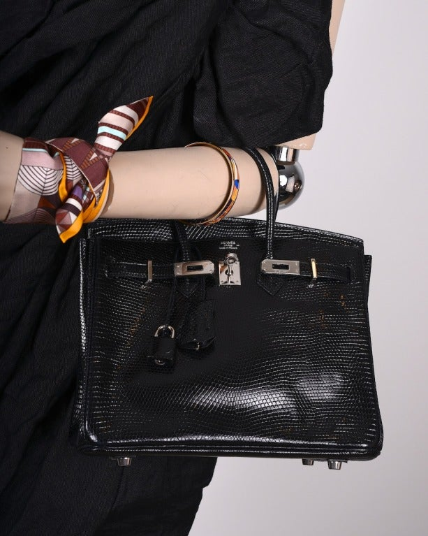 hermes kelly bag 20cm black lizard gold hardware