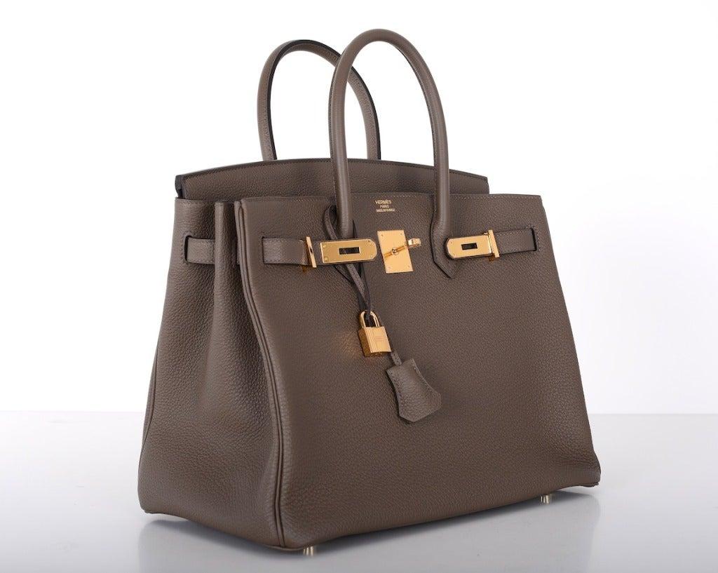 usl briefcase hermes - HERMES BIRKIN BAG TAUPE 35cm GOLD HARDWARE AMAZING COMBO ...