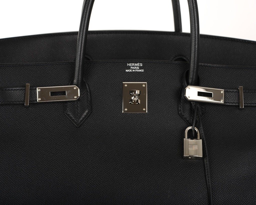 hermes kelly bag vs birkin bag - AMAZING RARE COMBO! Hermes Birkin Bag BLACK 40CM EPSOM LEATHER PHW ...