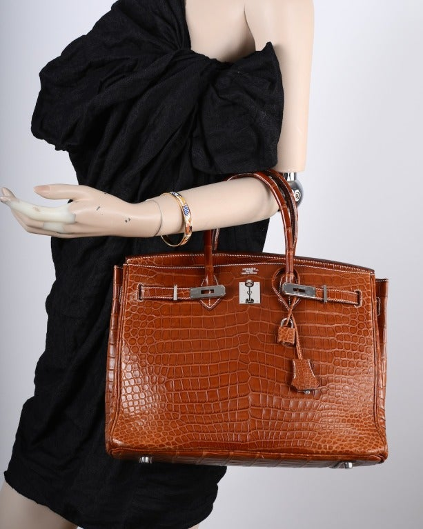 birkin replica  - WHAT A FIND! Hermes Birkin Bag 35CM CROCODILE MATTE FAUVE POROSUS ...