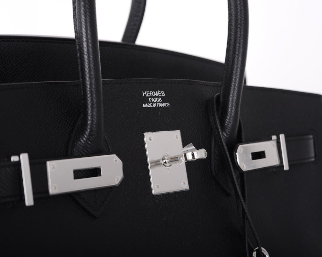 AMAZING COMBO! Hermes Birkin Bag BLACK 35CM EPSOM LEATHER PHW For ...