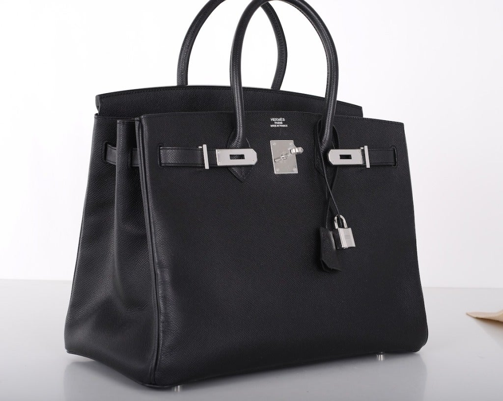 cheap hermes birkin bag - AMAZING COMBO! Hermes Birkin Bag BLACK 35CM EPSOM LEATHER PHW For ...