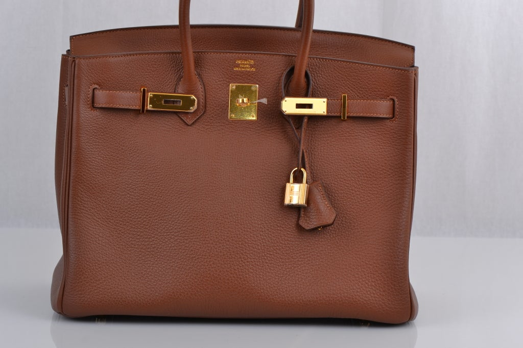 Hermes Birkin 35cm Marron D'inde With Gold Hardware image 3