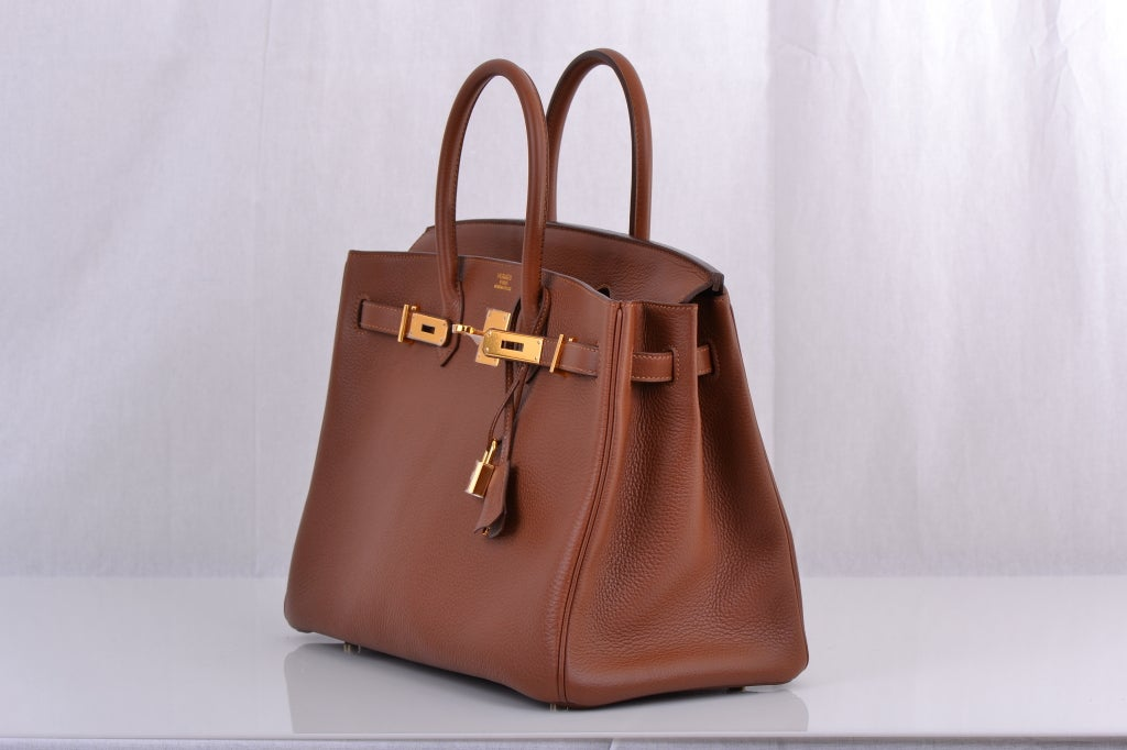 Hermes Birkin 35cm Marron D'inde With Gold Hardware image 4