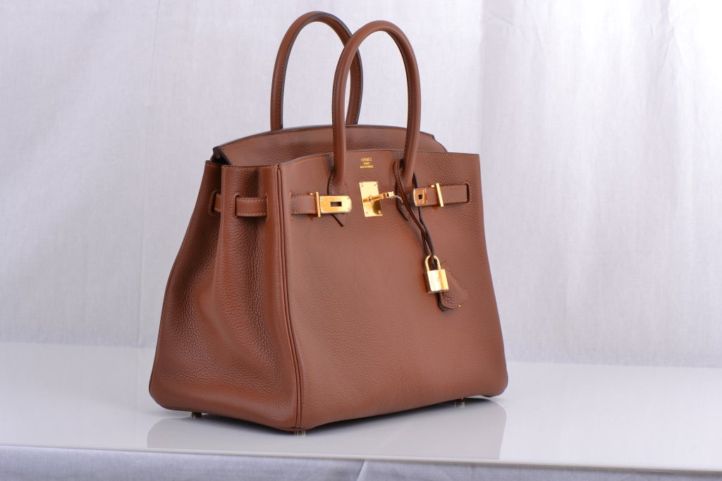 Hermes Birkin 35cm Marron D'inde With Gold Hardware image 5