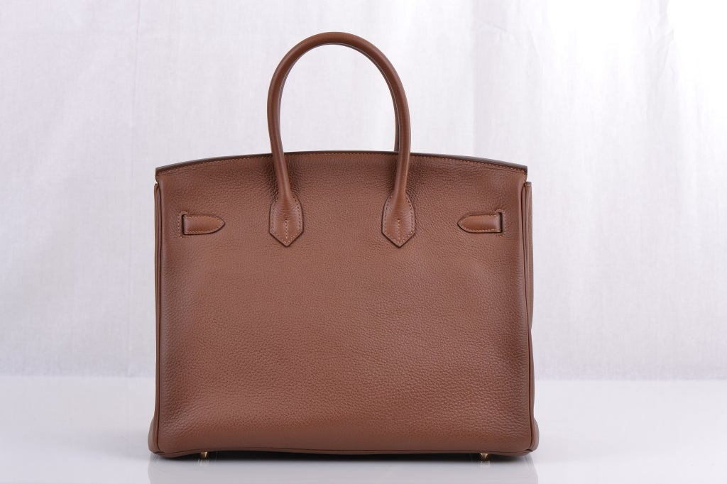 Hermes Birkin 35cm Marron D'inde With Gold Hardware image 7