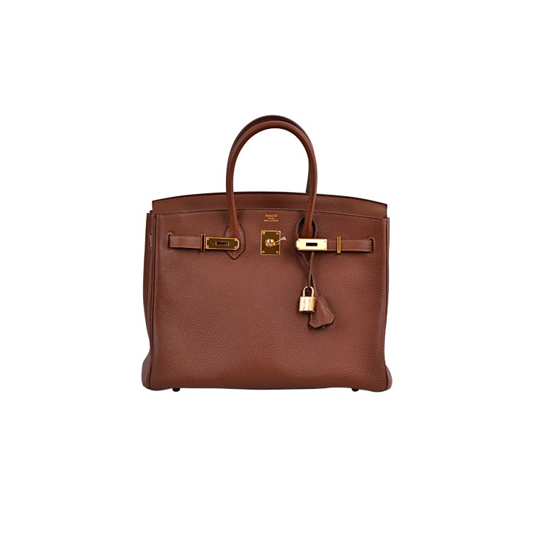 Hermes Birkin 35cm Marron D'inde With Gold Hardware