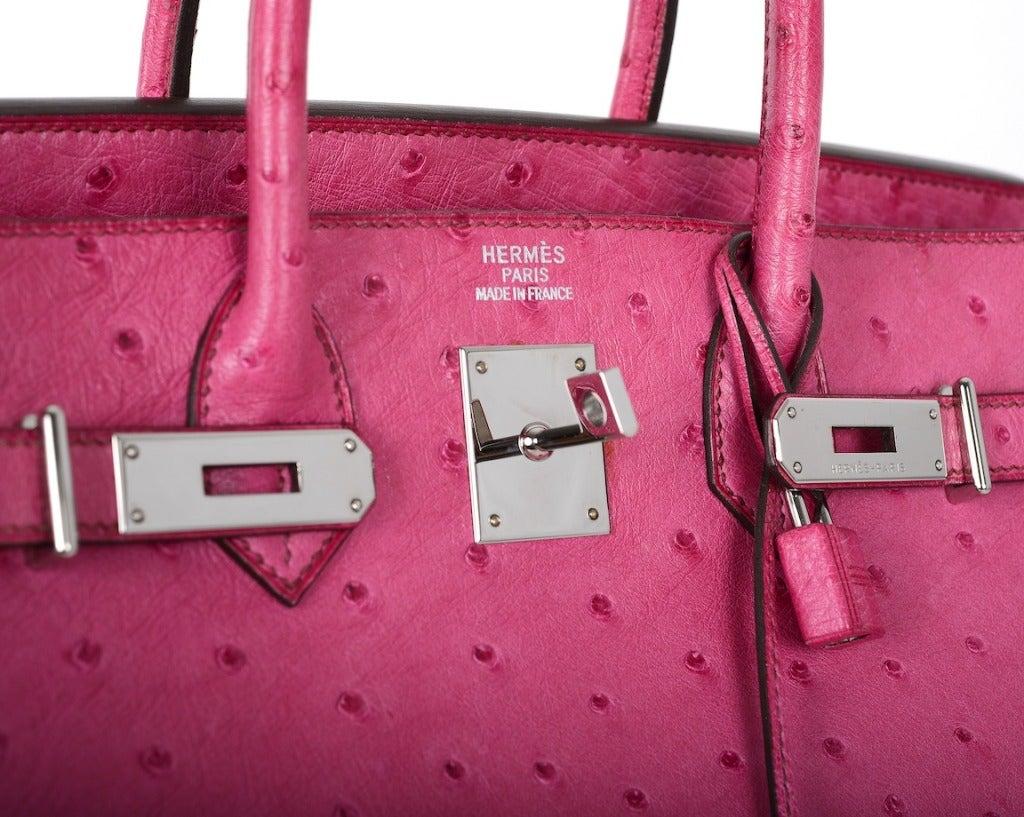 silver plum handbags - Hermes Birkin Bag HAC 32CM FUSCHIA OSTRICH PHW GOTTA C THIS at 1stdibs