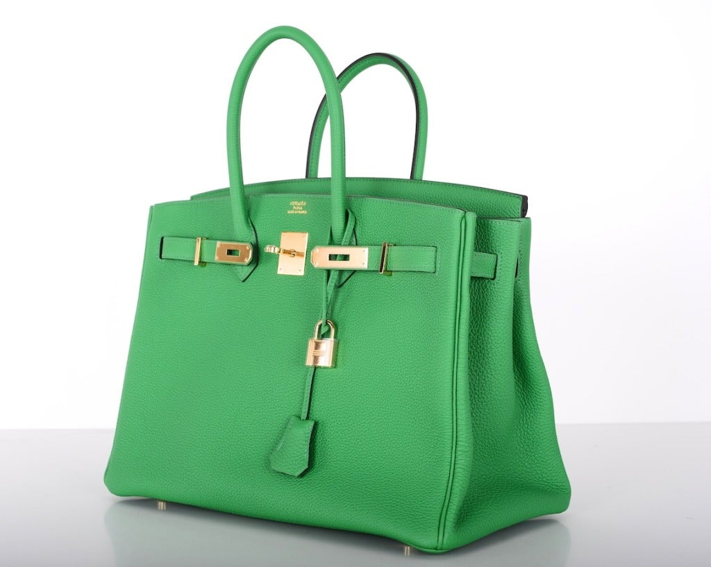 new color hermes birkin bag 35cm bambou green gold hardware 3 - Bambou Color