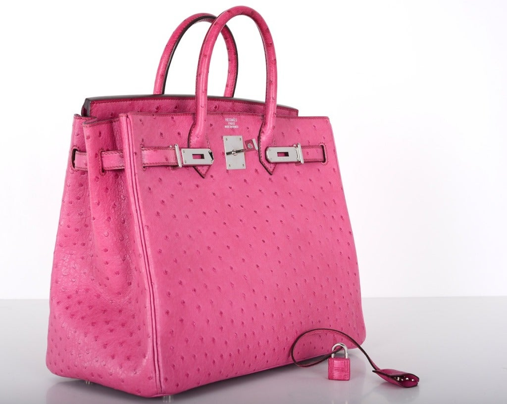 where to buy hermes - Hermes Birkin Bag HAC 32CM FUSCHIA OSTRICH PHW GOTTA C THIS at 1stdibs