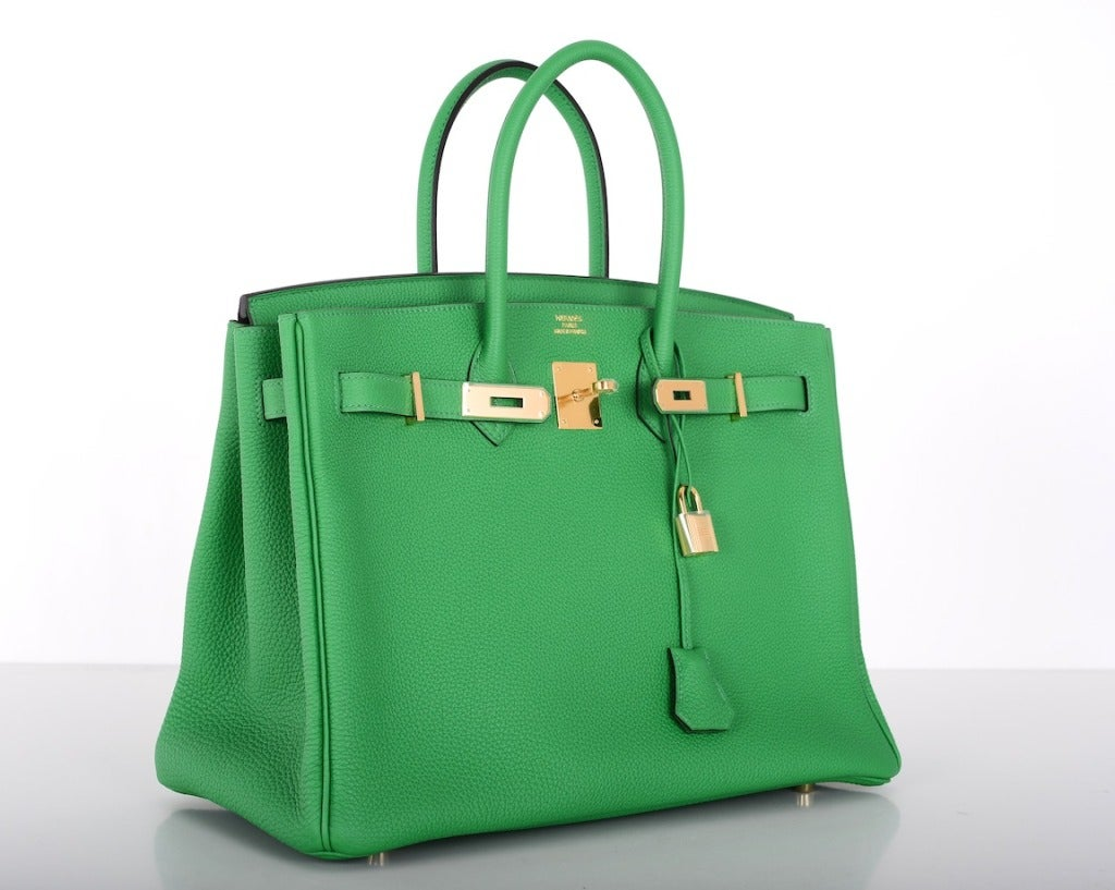new color hermes birkin bag 35cm bambou green gold hardware 2 - Bambou Color