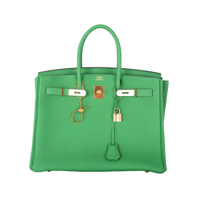 new color hermes birkin bag 35cm bambou green gold hardware 1 - Bambou Color