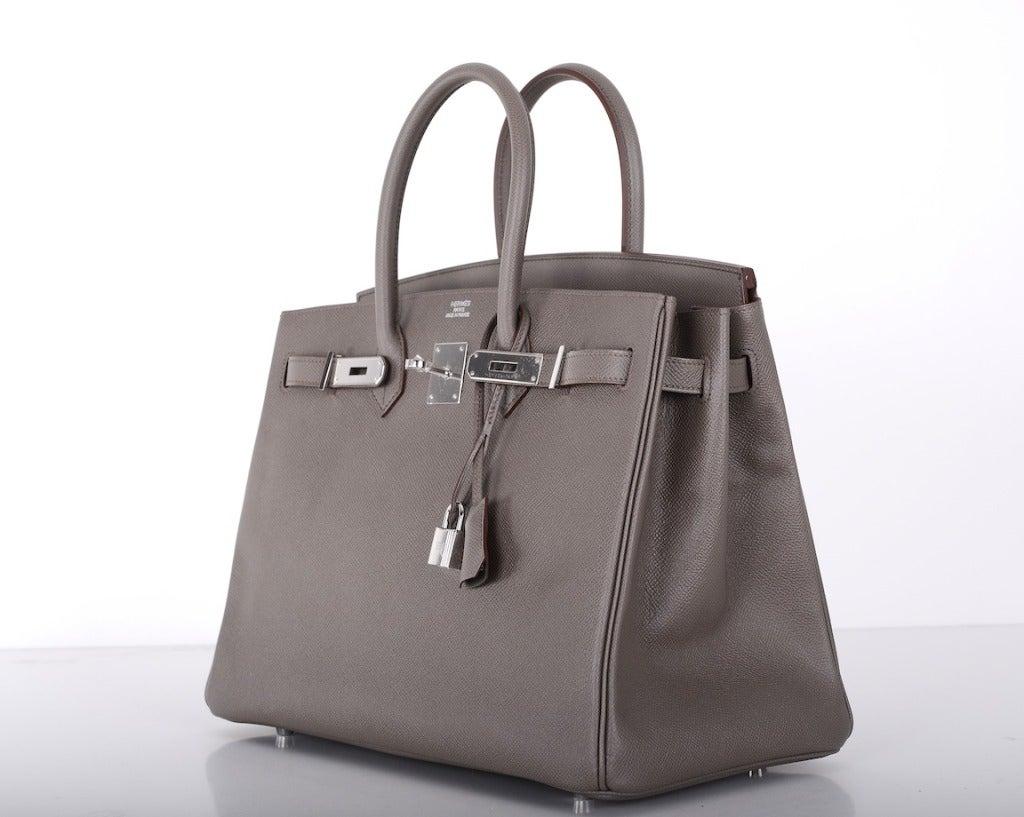 red brighton handbag - HERMES BIRKIN BAG 35cm ETAIN INSANLEY FAB EPSOM LEATHER PHW at 1stdibs