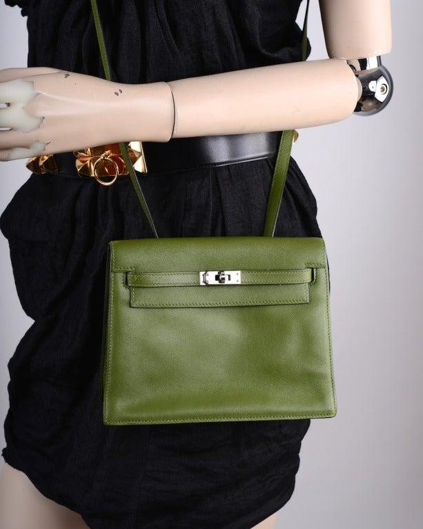 hermes bags online - ONLY ON JF HOTTEST Hermes Kelly Danse Bag PELOUSE SWIFT PALLADIUM ...