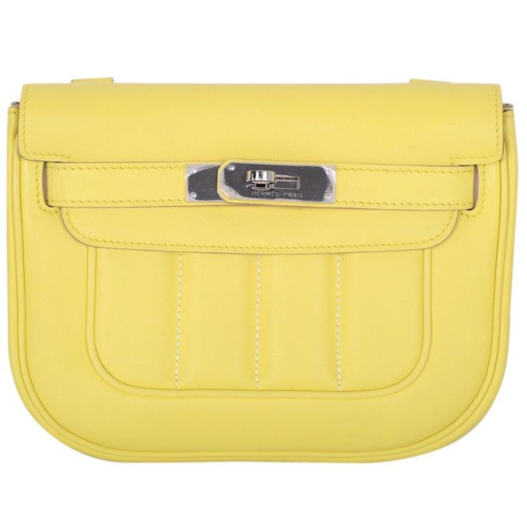 kelly green leather handbag - hermes berline bag