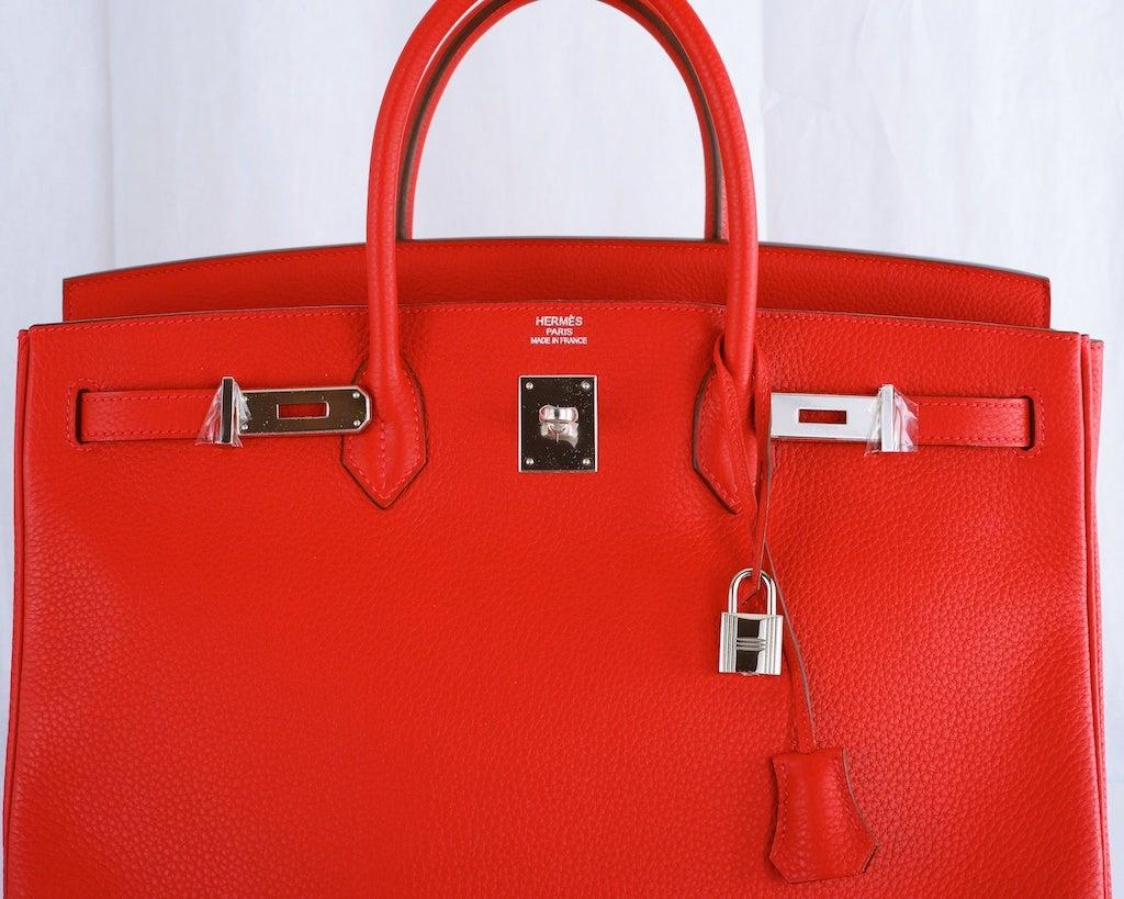 where to buy hermes birkin bag - NEW WOW COLOR! HERMES BIRKIN BAG 40 CM ROUGE CASAQUE CRAZY RED! at ...