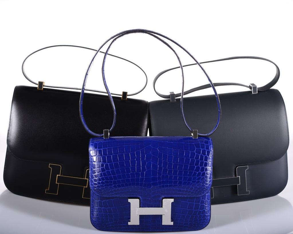 U WILL FLIP HERMES CONSTANCE CROCODILE BLUE ELECTRIC BAG 23cm 2DIE ...
