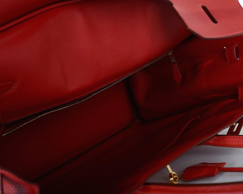Hermes 40cm Gold Ardennes Birkin Bag with Gold Hardware