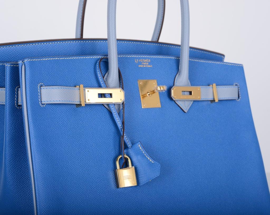 long purse - blue hermes birkin