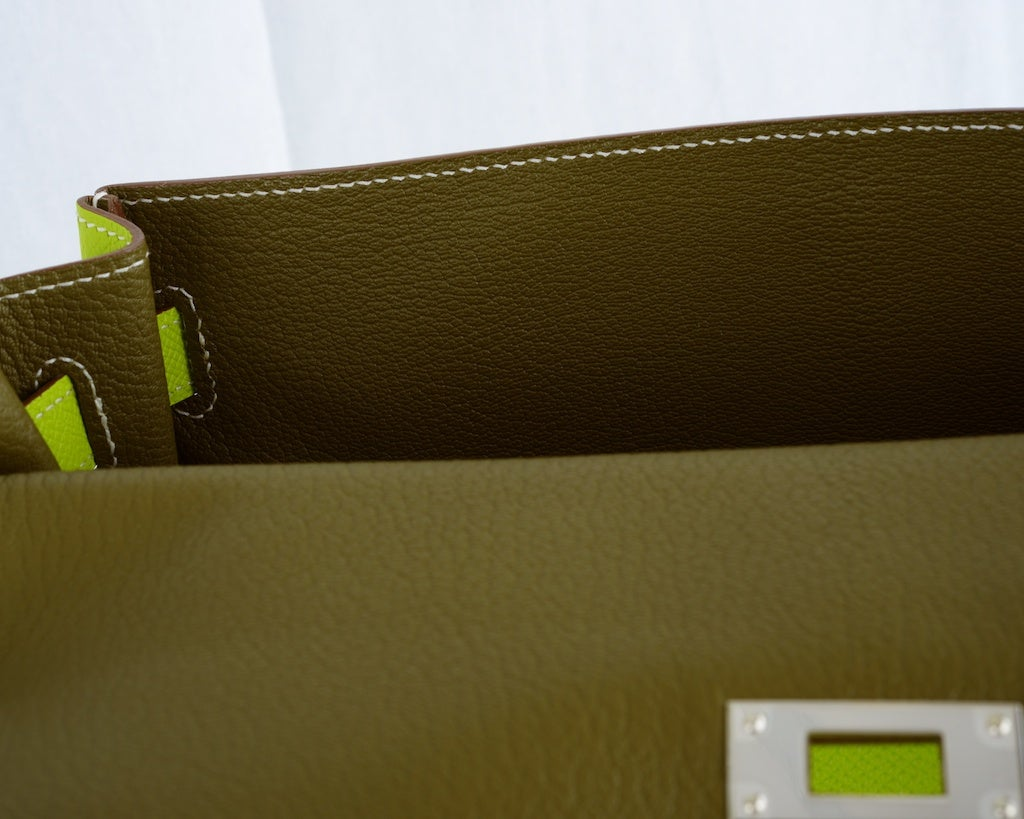 HERMES KELLY 32CM BAG CANDY KIWI LICHEN 2 TONE EPSOM IT'S HERE image 5