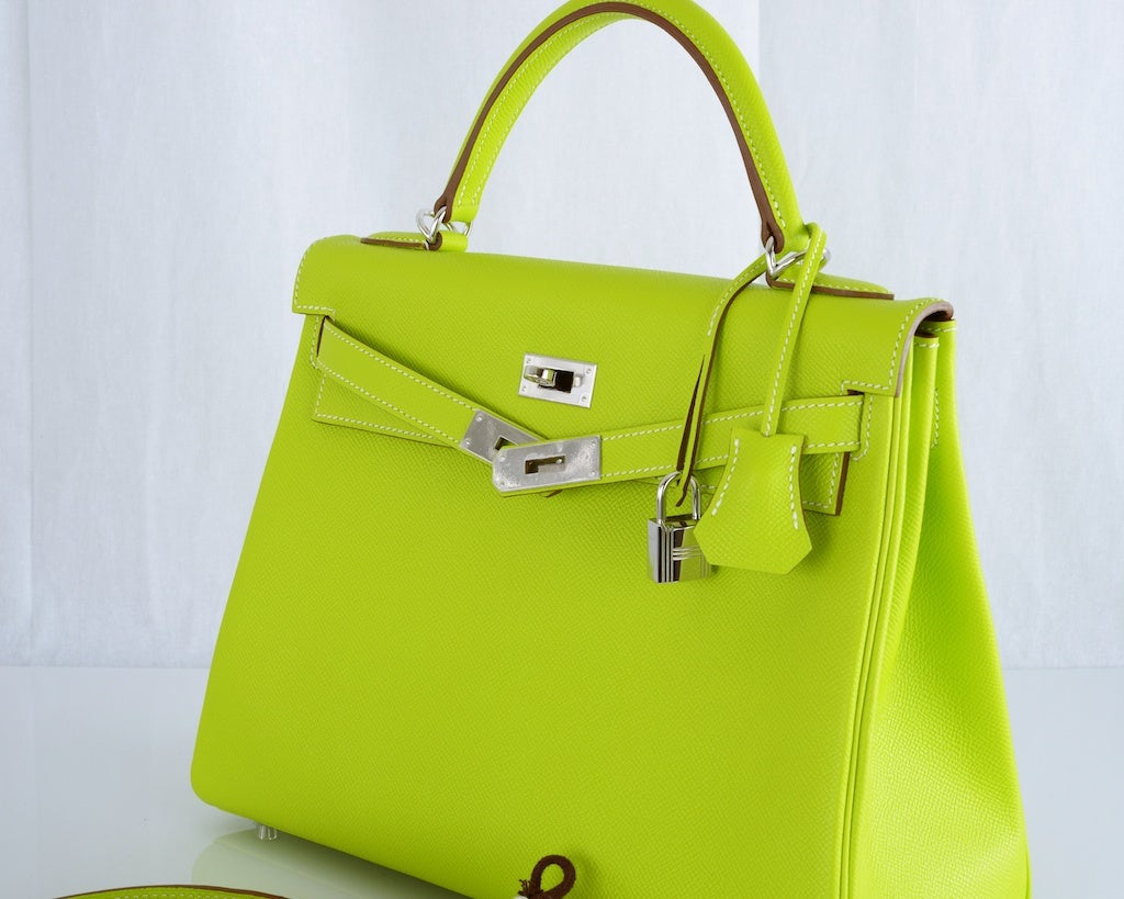 HERMES KELLY 32CM BAG CANDY KIWI LICHEN 2 TONE EPSOM IT'S HERE image 6