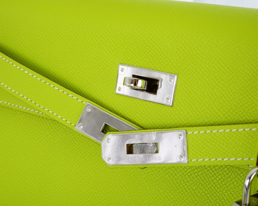 HERMES KELLY 32CM BAG CANDY KIWI LICHEN 2 TONE EPSOM IT'S HERE image 7