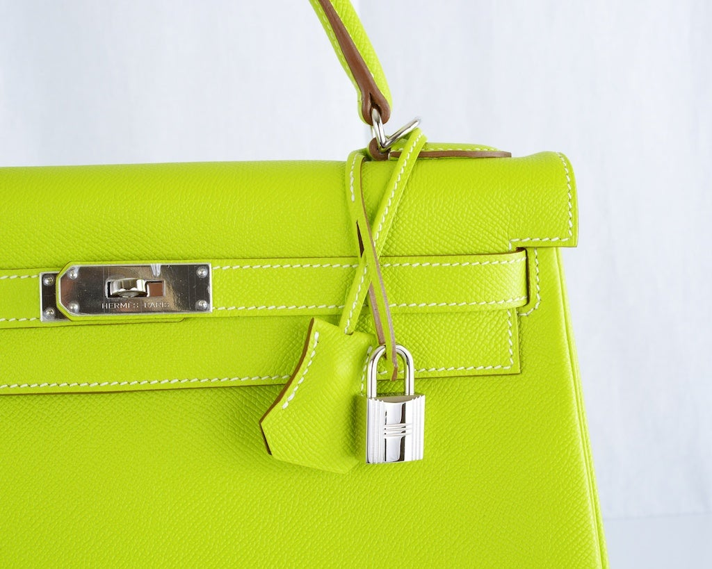 HERMES KELLY 32CM BAG CANDY KIWI LICHEN 2 TONE EPSOM IT'S HERE image 8