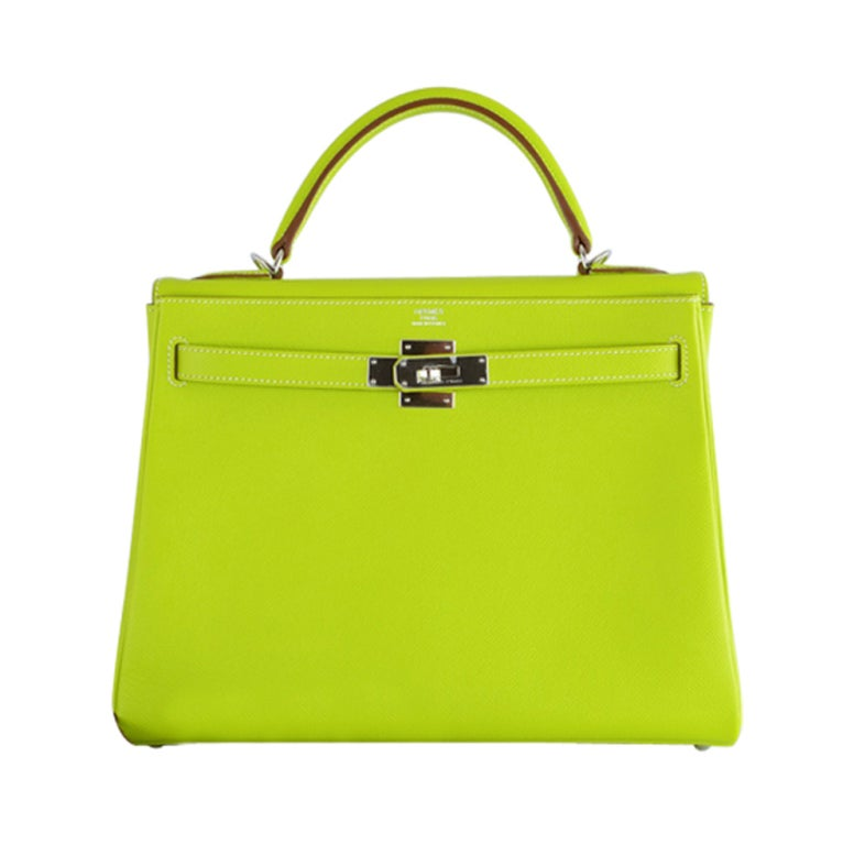 HERMES KELLY 32CM BAG CANDY KIWI LICHEN 2 TONE EPSOM IT'S HERE