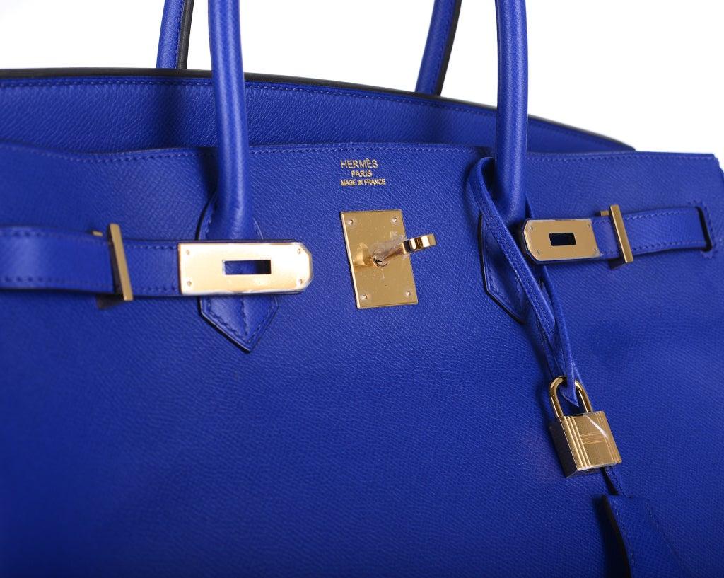 h hermes bags - U Must C HERMES BIRKIN BAG 40 CM BLUE ELECTRIC EPSOM GOLD HARDWARE ...