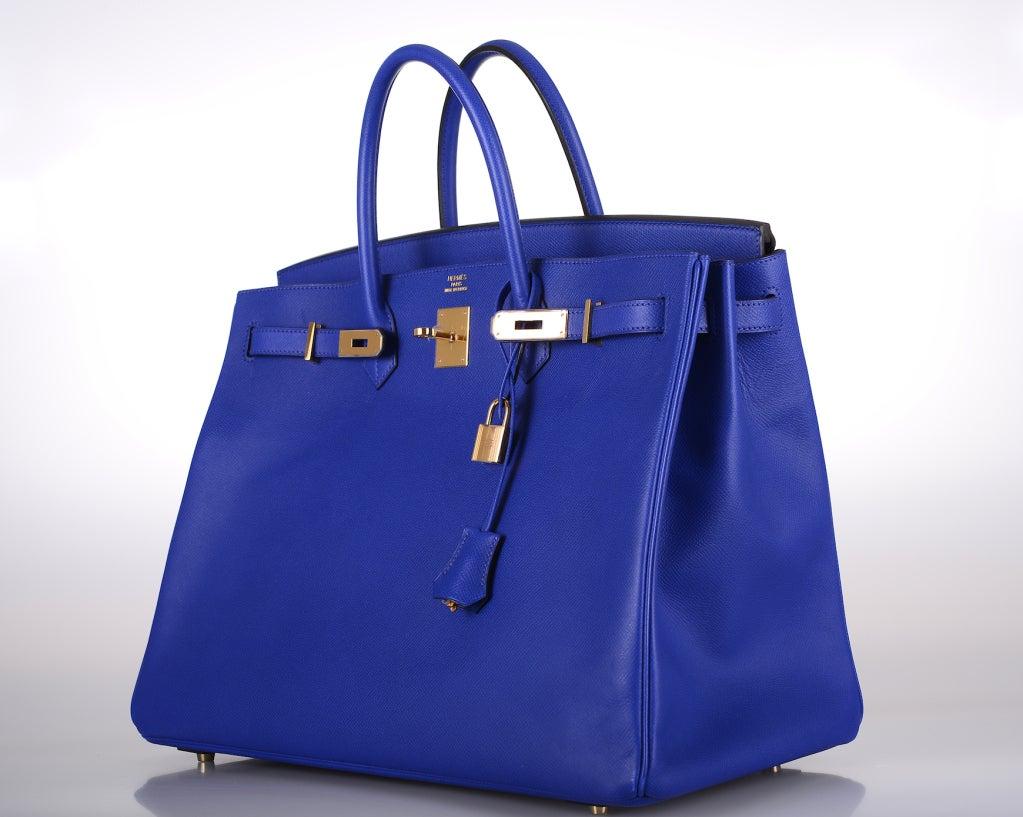 cheap birkin bag knock off - hermes blue electric epsom birkin 30cm palladium hardware